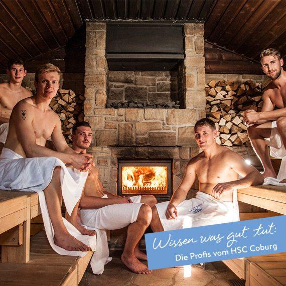Die Profis vom HSC Coburg wissen was gut tut: Sauna-Events in der Obermain Therme Bad Staffelstein